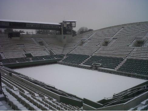 Roland Garros sous la neige – Court Suzanne Lenglen