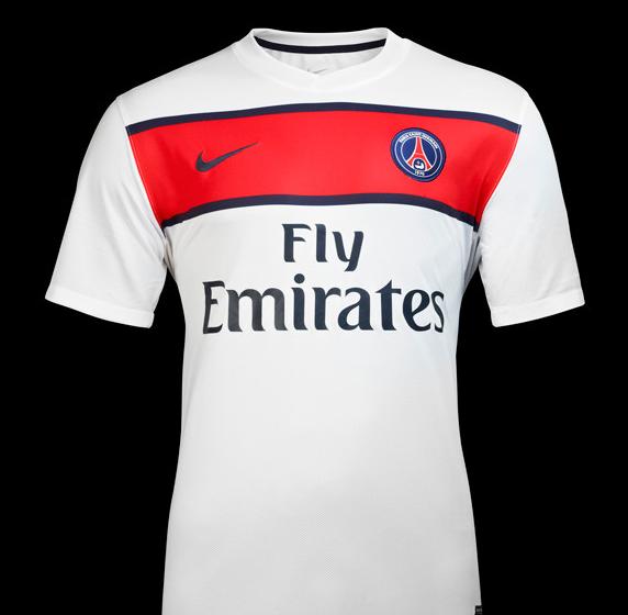 Exclu le nouveau maillot ext rieur du psg 2011 2012 for Maillot exterieur psg