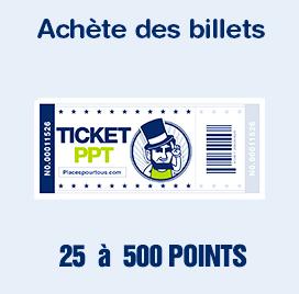achète des billets sur places pour tous et gagne des poins pour obtenir encore plus de réduction !