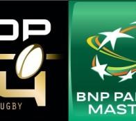 Logos Top 14 et BNP Paribas Masters