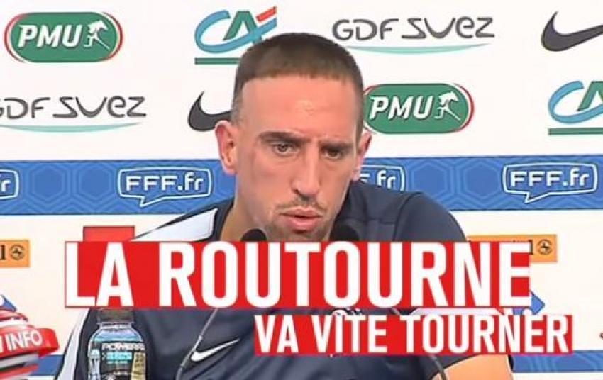 La routourne va vite tourner. Expression française du cru 2013 de Franck Ribéry.