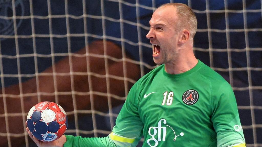 Thierry Omeyer, affrontera pour le PSG son ancienne équipe de Montpellier, actuel tête du classement de D1.