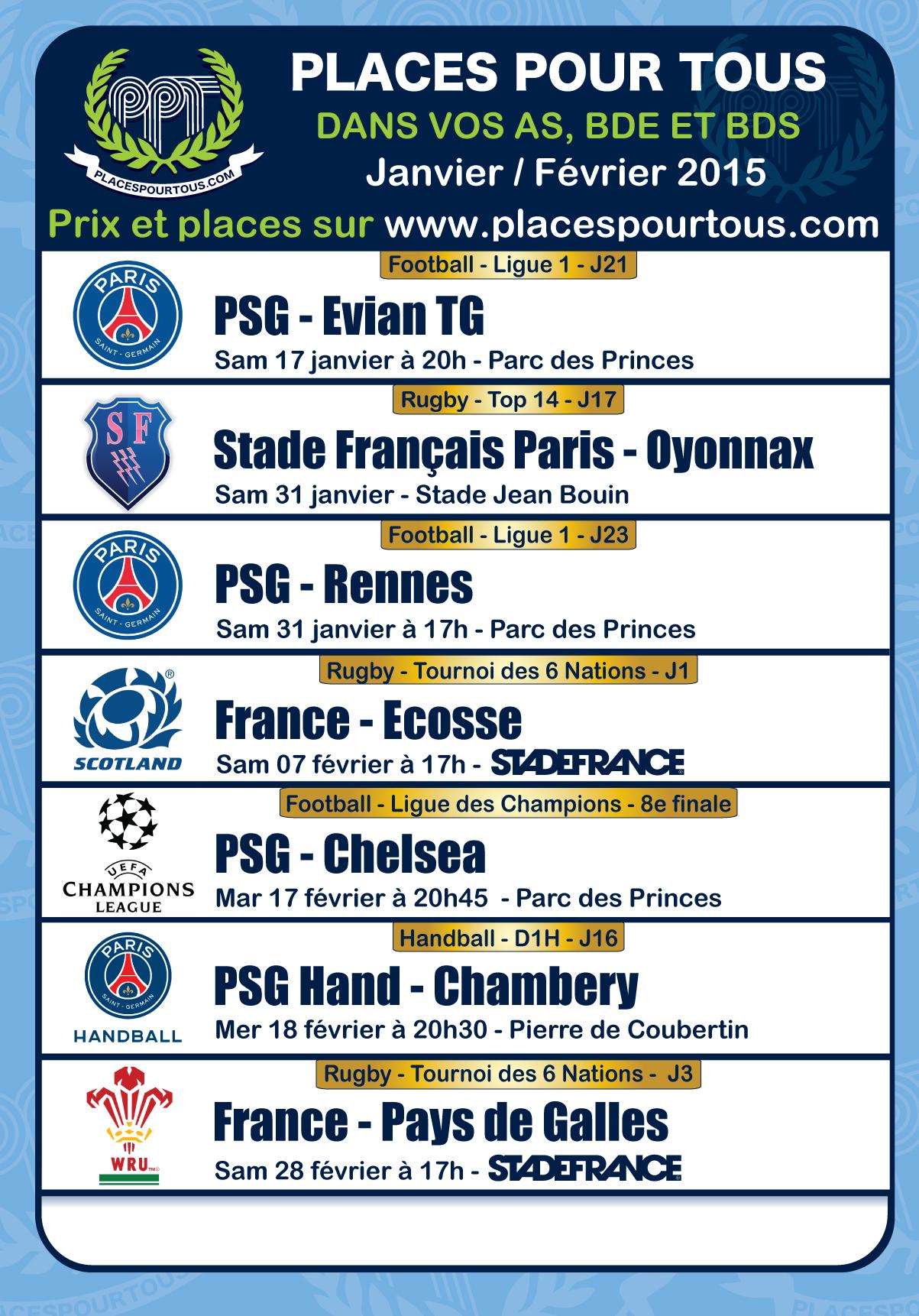 Les 1eres affiches de 2015 psg bordeaux 6 nations psg chelsea places pour tous - Coupe des 6 nations 2015 ...