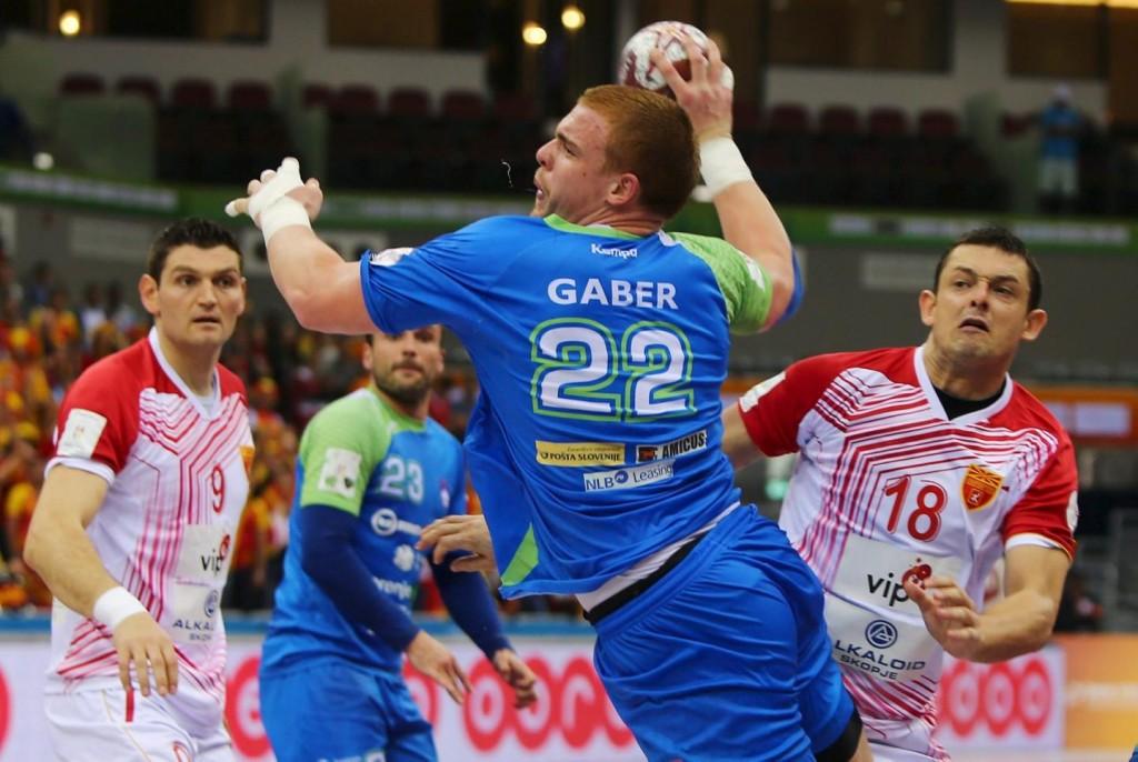 Gaber lors de la coupe du monde de handball au Qatar, joue se soir contre la France en quart de finale.
