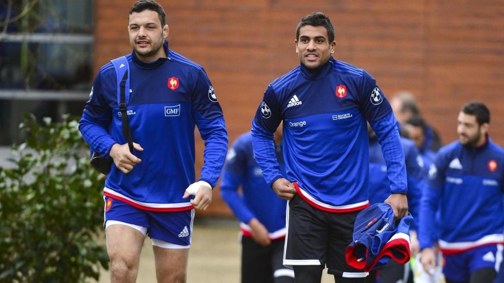 Damien Chouly et Wesley Fofana à Marcoussis en préparation du Six Nations.