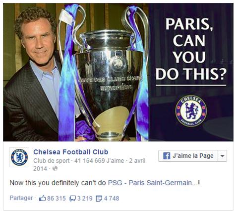 Chelsea avait bien chambré le PSG après leur victoire 2-0 au match retour.