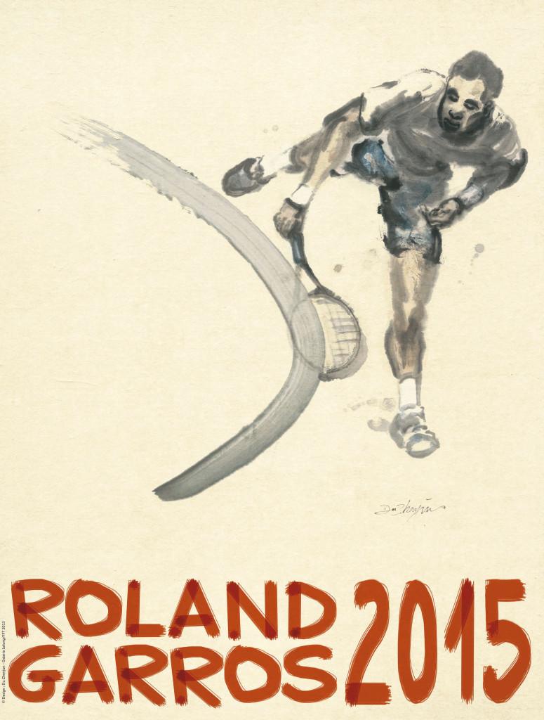 Affiche Roland Garros 2015 signée Du Zhenjun