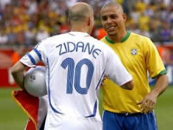 Zidane et les brésiliens sont relax pour ce match que la France remporte 1-0