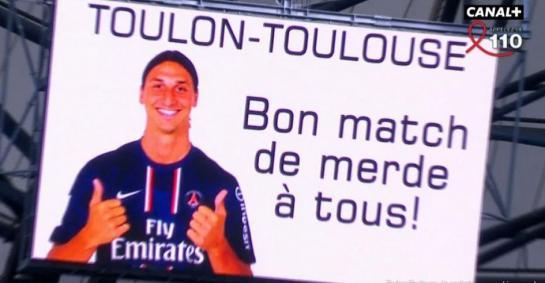 RC Toulon - Stade Toulousain : bon match de merde par Zlatan Ibrahimovic