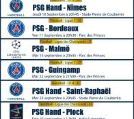 programmation rentré 2015 PPT: PSG Bordeaux, PSG Malmü, Ligue des champions
